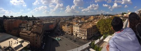 Panorama Rome from Bernini Roof